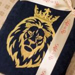 Халат с вышивкой льва 38