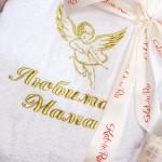 Вышивка с изображением ангела на именном махровом халате