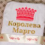 """Вышивка с короной """"Королева Марго"""""""