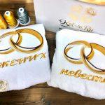 халаты с вышивкой жениху и невесте